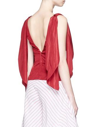 背面 - 点击放大 - ROSIE ASSOULIN - 条带装饰塔夫绸上衣