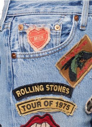 细节 - 点击放大 - MadeWorn - 滚石乐队主题水洗牛仔短裤