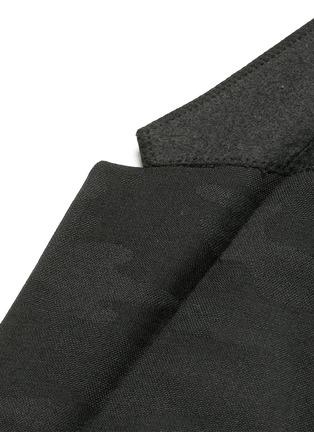 细节 - 点击放大 - NEIL BARRETT - 缎面拼贴迷彩羊毛西服外套