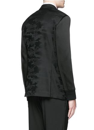 背面 - 点击放大 - NEIL BARRETT - 缎面拼贴迷彩羊毛西服外套