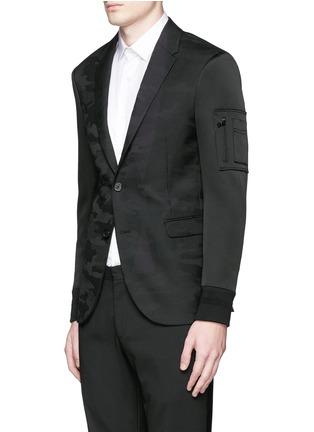 正面 -点击放大 - NEIL BARRETT - 缎面拼贴迷彩羊毛西服外套