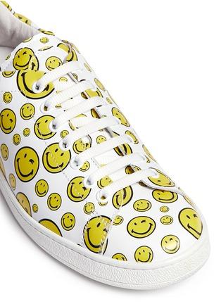 细节 - 点击放大 - JOSHUA SANDERS - 笑脸图案真皮球鞋