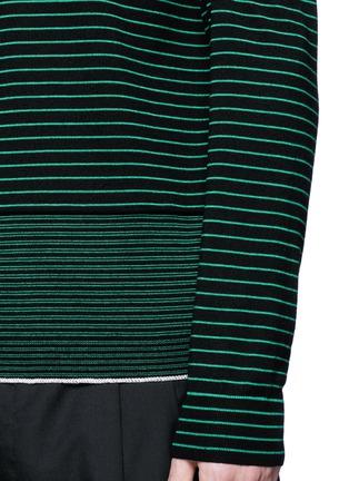 细节 - 点击放大 - LANVIN - 条纹美利奴羊毛针织衫