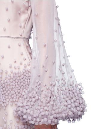 细节 - 点击放大 - ROKSANDA - ERIN球形点缀真丝欧根纱连衣裙
