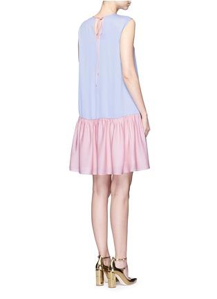 背面 - 点击放大 - ROKSANDA - Fuji拼色泡泡纱连衣裙