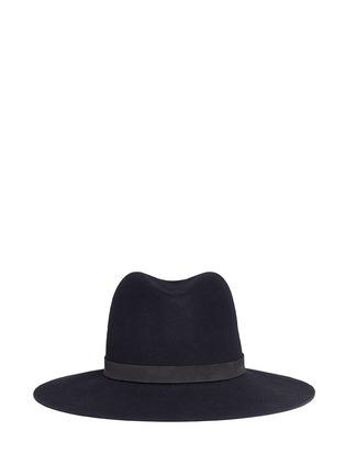 首图 - 点击放大 - JANESSA LEONÉ - ILA皮革帽带羊毛毡宽檐帽