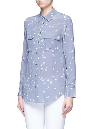 正面 -点击放大 - EQUIPMENT - SLIM SIGNATURE星形印花真丝衬衫