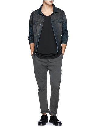 模特儿示范图 - 点击放大 - 1.61 - 水洗纯棉长裤
