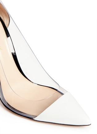 细节 - 点击放大 - GIANVITO ROSSI - 漆皮透明拼接尖头高跟鞋