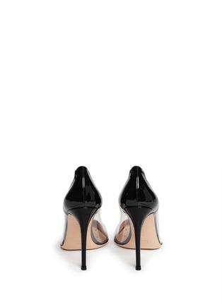背面 - 点击放大 - GIANVITO ROSSI - 漆皮透明拼接尖头高跟鞋