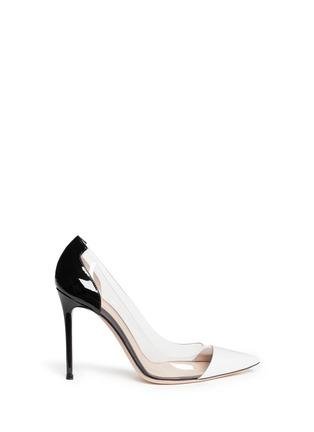 首图 - 点击放大 - GIANVITO ROSSI - 漆皮透明拼接尖头高跟鞋