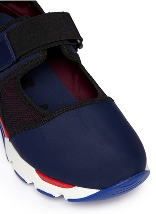 细节 - 点击放大 - MARNI - 太空棉网眼拼接球鞋