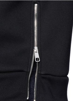 细节 - 点击放大 - NEIL BARRETT - 凹凸闪电图案太空棉卫衣