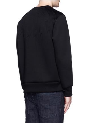 背面 - 点击放大 - NEIL BARRETT - 凹凸闪电图案太空棉卫衣
