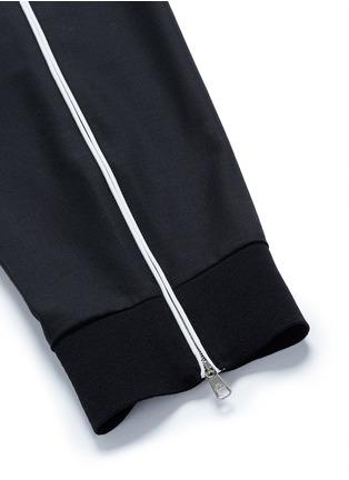 细节 - 点击放大 - NEIL BARRETT - 条纹拼接混羊毛七分裤