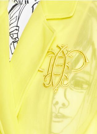 细节 - 点击放大 - EMILIO PUCCI - 品牌标志刺绣大衣