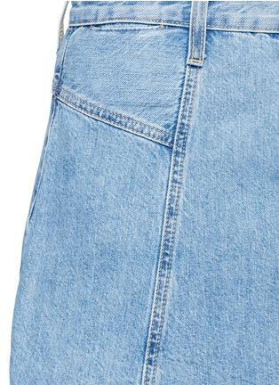 细节 - 点击放大 - CURRENT/ELLIOTT - 水洗混棉丹宁半身裙