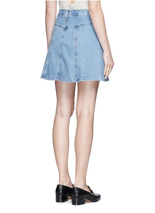 背面 - 点击放大 - CURRENT/ELLIOTT - 水洗混棉丹宁半身裙