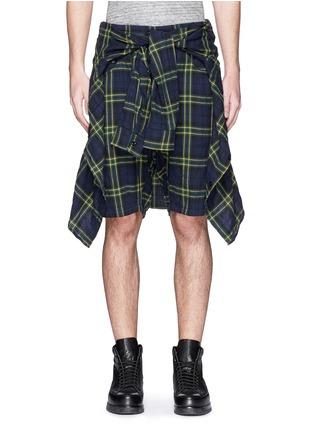首图 - 点击放大 - R13 - CORNELL格纹衬衫短裤套装