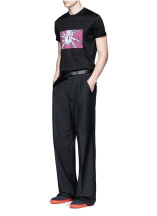 模特儿示范图 - 点击放大 - LANVIN - 蜘蛛印花纯棉T恤