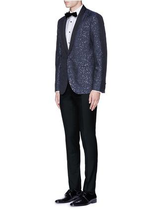 模特儿示范图 - 点击放大 - LANVIN - 单色羊毛西服长裤