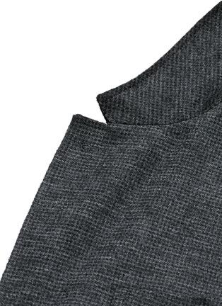细节 - 点击放大 - LANVIN - 千鸟格拼接羊毛西服外套
