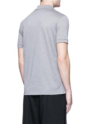 背面 - 点击放大 - LANVIN - 单色纯棉polo衫