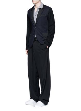 模特儿示范图 - 点击放大 - LANVIN - 单色纯棉polo衫