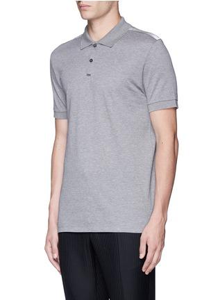 正面 -点击放大 - LANVIN - 条带装饰单色纯棉polo衫