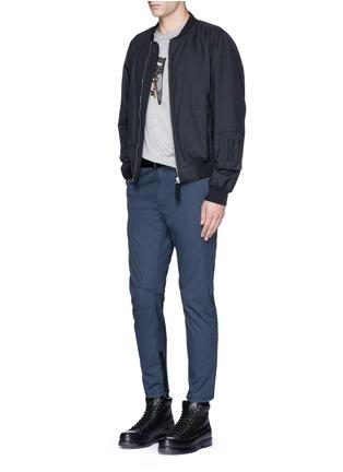 模特儿示范图 - 点击放大 - LANVIN - 车缝线点缀纯棉长裤
