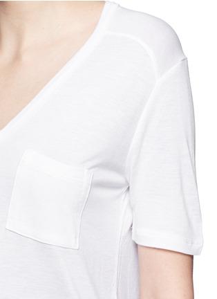 细节 - 点击放大 - ALEXANDERWANG.T - 单色胸袋T恤