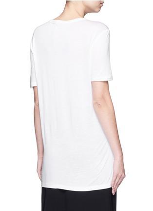 背面 - 点击放大 - T BY ALEXANDER WANG - 单色胸袋T恤