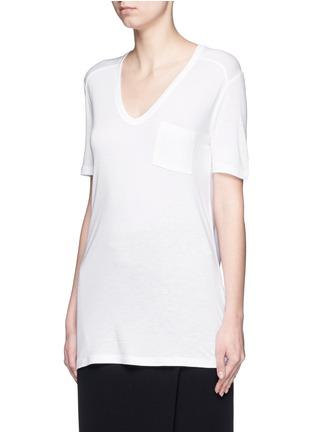 正面 -点击放大 - T BY ALEXANDER WANG - 单色胸袋T恤
