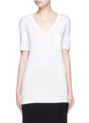 首图 - 点击放大 - T BY ALEXANDER WANG - 单色胸袋T恤