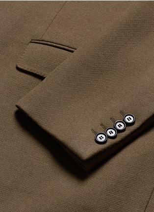 细节 - 点击放大 - LANVIN - 长款拼色羊毛大衣