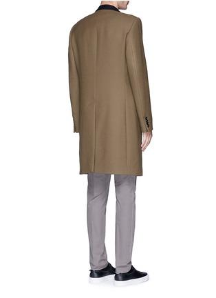 背面 - 点击放大 - LANVIN - 长款拼色羊毛大衣
