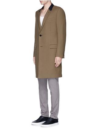 正面 -点击放大 - LANVIN - 长款拼色羊毛大衣