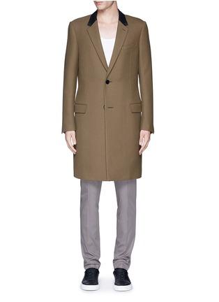 首图 - 点击放大 - LANVIN - 长款拼色羊毛大衣