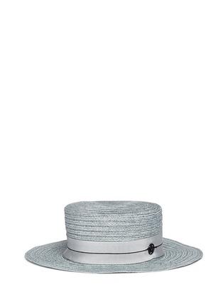 首图 - 点击放大 - MAISON MICHEL - Kiki帽带装饰编织平顶硬草帽