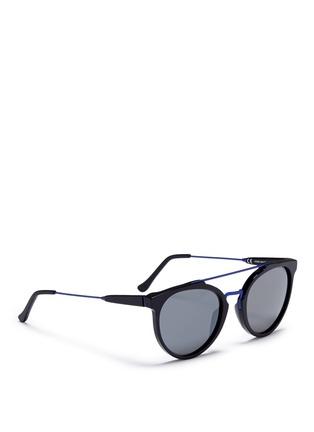 模特儿示范图 - 点击放大 - SUPER - Giaguaro B2B金属拼接太阳眼镜