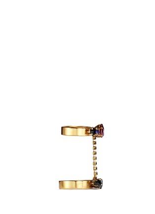 细节 - 点击放大 - ERICKSON BEAMON - 多彩仿水晶双圈戒指