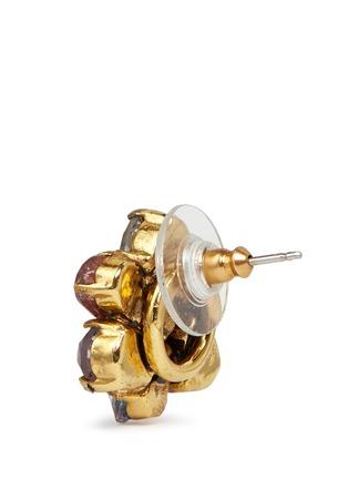 细节 - 点击放大 - ERICKSON BEAMON - 花卉造型仿水晶耳环