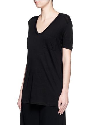 正面 - 点击放大 - T BY ALEXANDER WANG - 单色胸袋T恤