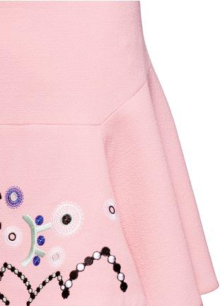 细节 - 点击放大 - PETER PILOTTO - 刺绣装饰羊毛半身裙