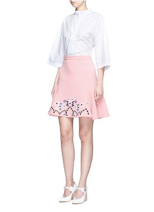 模特示范图 - 点击放大 - PETER PILOTTO - 刺绣装饰羊毛半身裙