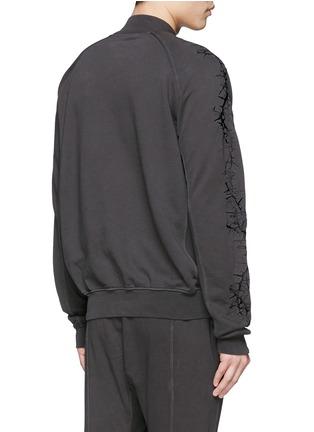 背面 - 点击放大 - HAIDER ACKERMANN - 重叠领口荆棘刺绣纯棉卫衣