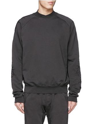首图 - 点击放大 - HAIDER ACKERMANN - 重叠领口荆棘刺绣纯棉卫衣