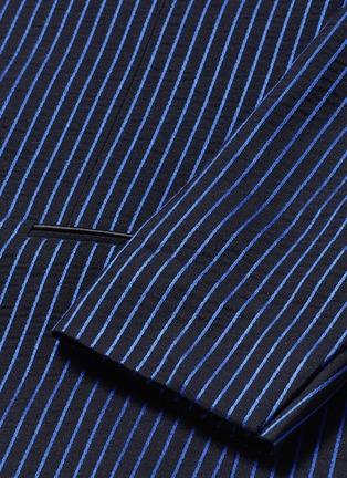 细节 - 点击放大 - HAIDER ACKERMANN - 拼色竖纹混棉西服外套