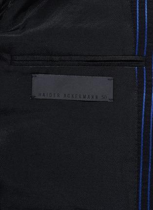 - HAIDER ACKERMANN - 拼色竖纹混棉西服外套