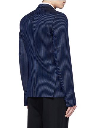 背面 - 点击放大 - HAIDER ACKERMANN - 拼色竖纹混棉西服外套